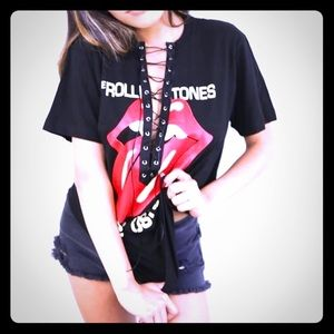 The Rolling Stones lace up concert band tee